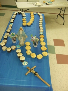 Cupcake Rosary at our May 2015 meeting